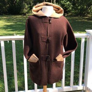 RALPH LAUREN Brown Wool Hooded Jacket